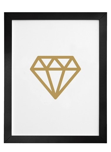 Nordbagen Diamond Gold Poster Siyah